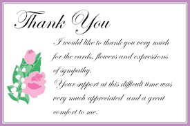 Thank You Sympathy Cards Thank You Sympathy Cards Brainmaxx Org