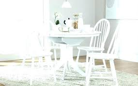 cream painted dining table and chairs tables room furniture set fancy white round kitchen