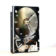 unique desk clock desk clock recycled computer hard drive clock clock gift for men unique gift