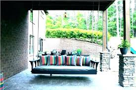 outdoor hanging bed outdoor hanging bed porch patio swing round how to make a outdoor hanging