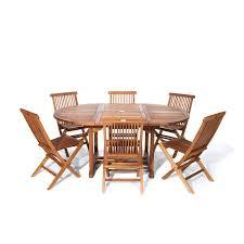 all things cedar 7 piece brown wood frame patio dining set