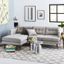 west sectional living room gray media