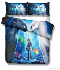 3d how to train your dragon bedding set light fury night fury duvet quilt cover black and white comforter set king size comforter set from milsleep
