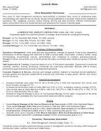 Resume Examples Retail Management Sample Retail Resume Nice