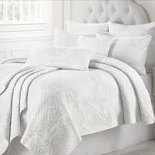white quilt king. Modren Quilt CHAUSUB France White Quilt Set 3PCS Washed Cotton Quilts Bed Cover Sheets  Embroidered Bedspread Pillow Shams To King I