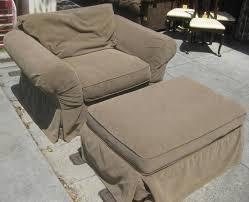 oversized chair ottoman slipcover