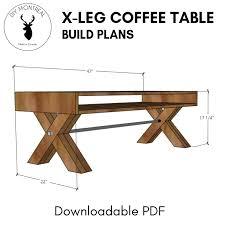 x leg coffee table pdf build plans