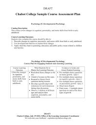 Assessment Plan Sample