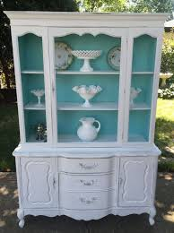 beautiful vintage shabby chic china cabinetcottage stylestoragedisplay cabinethand beautiful shabby chic style
