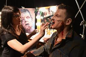 jenn rose in universal horror nights a make up kick off zimbio