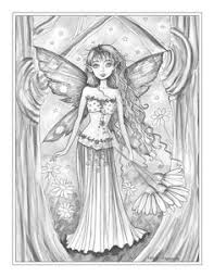 molly harrison beautiful faerie coloring page free coloring pages coloring books fairy art