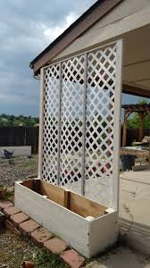 lattice privacy screen planter my projects bunch ideas of trellis planter garden screen
