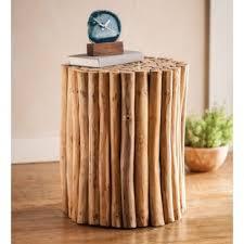 wood stump furniture. Jadiel Teak Bundle End Table Wood Stump Furniture E