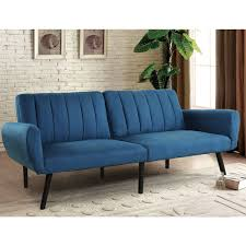 mattress for sleeper sofa. Costway Sofa Futon Bed Sleeper Couch Convertible Mattress Premium Linen Upholstery Blue 0 For O