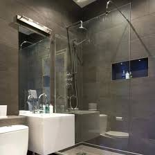 Elegant Shower Room Ideas Images Beautiful Homes Grey Slate Modern Led Lights  Pictures