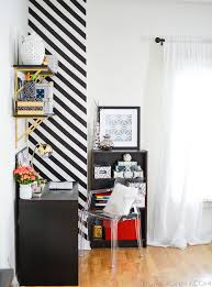 Striped Bedroom Paint How To Create A Striped Accent Wall Without Paint Homey Oh My