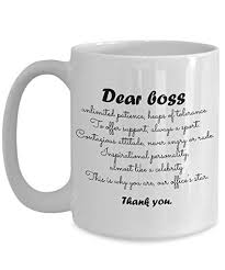 Thank You Gift For Boss Amazon Com Dear Boss Thank You Funny Hilarious Cute Mug Best
