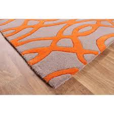 matrix wire max37 wire orange wool rug by asiatic 3