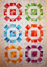 866 best RAINBOW QUILTS images on Pinterest | Rainbow quilt ... & Rolling Stone Scrappy Variation Quilt Top by Riel Nason Adamdwight.com