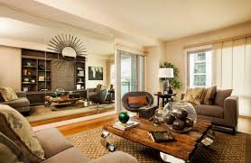 Rustic Leather Living Room Furniture Rustic Chic Living Room Ideas Round Brown Lacquered Wood Coffee