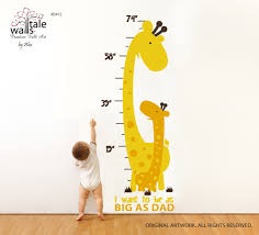 Growth Chart Decal Height Chart Wall Decal With Giraffes For Nursery