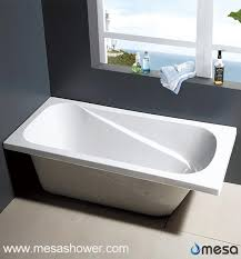 china alcove shallow drop in solid surface oval acrylic bath tub