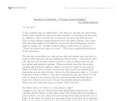 injustice in schools a lose lose situation university  document image preview