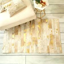 yellow gold area rugs gorgeous golden natural cowhide rug in metallic luxury home furniture fair new