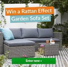 win a rattan effect garden sofa set