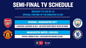 Fa cup fikstürü, fa cup fikstürleri, yaklaşan maçlar. Emirates Fa Cup On Twitter Semi Final Schedule Your Emiratesfacup Semi Final Fixtures And Where To Watch Them In The Uk Have Been Confirmed Https T Co W3zj6pbo8d