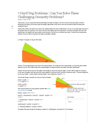 hard trig problems can you solve these challenging geometry 7 hard trig problems can you solve these challenging geometry trigonometry triangle