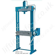 floor mounted hydraulic workshop press manual hand pump pfaff hwphp machine press manual hydraulic operation range from 15 000kg to 50 000kg