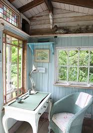cottage style office. cottage home office with hooker furniture melange sofia writing desk stained glass window hardwood floors exposed beam style o