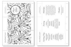 Wedding Program Templates Free Word Diy Tutorial Free Printable Folded Wedding Program Boho Weddings