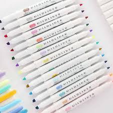 <b>12 Pcs</b>/<b>set Japanese</b> Mildliner Pens Mild liner Double Headed ...