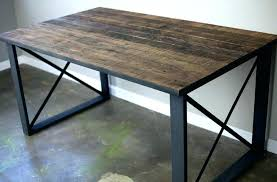 modern metal furniture legs. Wood Desk Legs Modern Metal Furniture Rectangular Reclaimed With Square Base For E