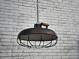 caged lighting. industrial caged pendant light lighting