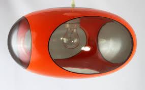 Original 70er Jahre Ufo Lampe Luigi Colani Orange Vintage