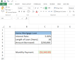 How To Calculate A Monthly Loan Payment In Excel Mortgage