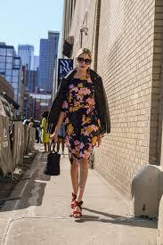 modern ensemble blogger dress jacket shoes sunglasses bag sandals leather jacket fl dress handbag fall outfits
