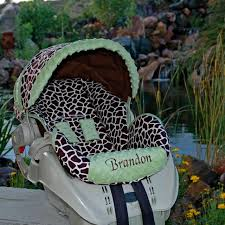 personalized baby car seat covers