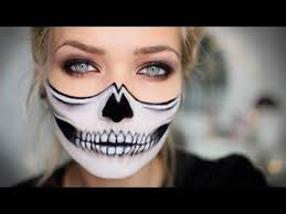 half skull makeup tutorial laultimamoda club half skull