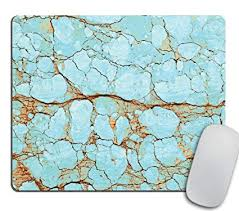 turquoise office decor. Rusty Cracked Turquoise Marble Design Mousepad, Boho Mouse Pad, Office Decor Turquoise Office Decor