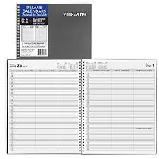Day Planner Hourly Academic Weekly Planner 2018 2019 Appointment Book 8 5 X 11 Inches