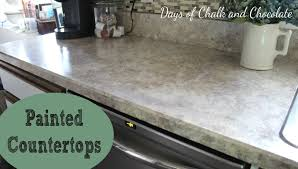 Diy Faux Granite Countertops Painted Faux Stone Countertops Days Of Chalk And Chocolate
