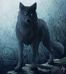 anime black wolf with blue eyes. Fine With My Type Of Wolf Is A Black With Blue Eyes And Needs My Pack Hates  To Be Alone Position Beta On Anime Black Wolf With Blue Eyes Pinterest