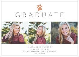 Print Graduation Announcement Animal Print Graduation Announcements