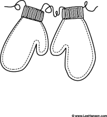 Small Picture Mittens on strings winter coloring page Christmas Coloring