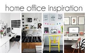 black white home office inspiration. home office inspiration black white