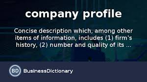 Company Profile Format Sample Inspiration What Is Company Profile Definition And Meaning BusinessDictionary